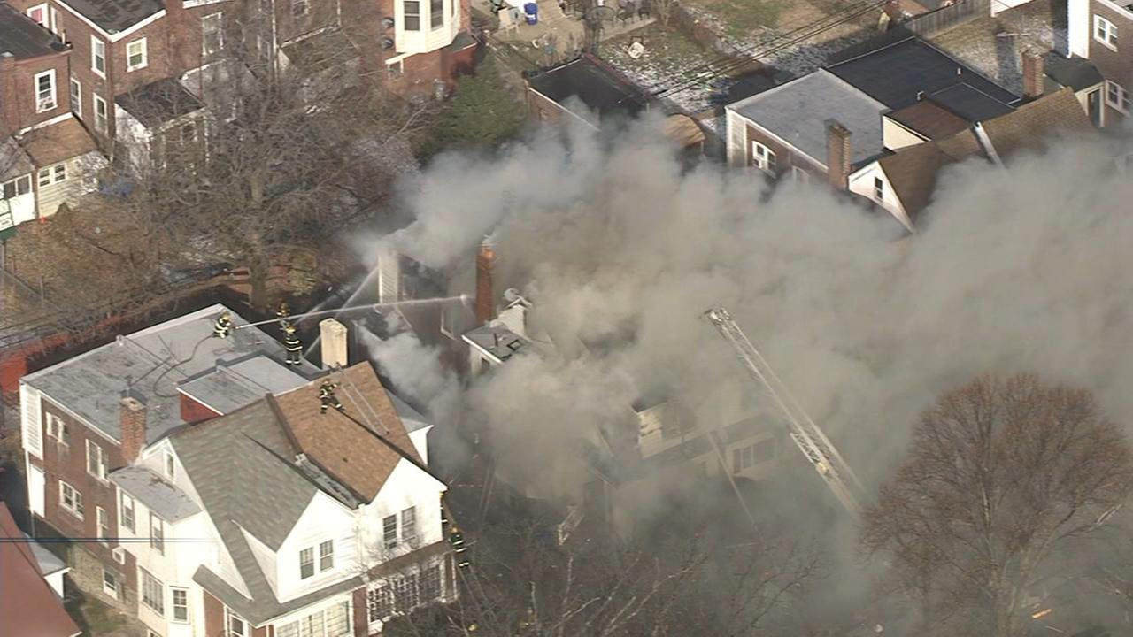 House fire in Frankford
