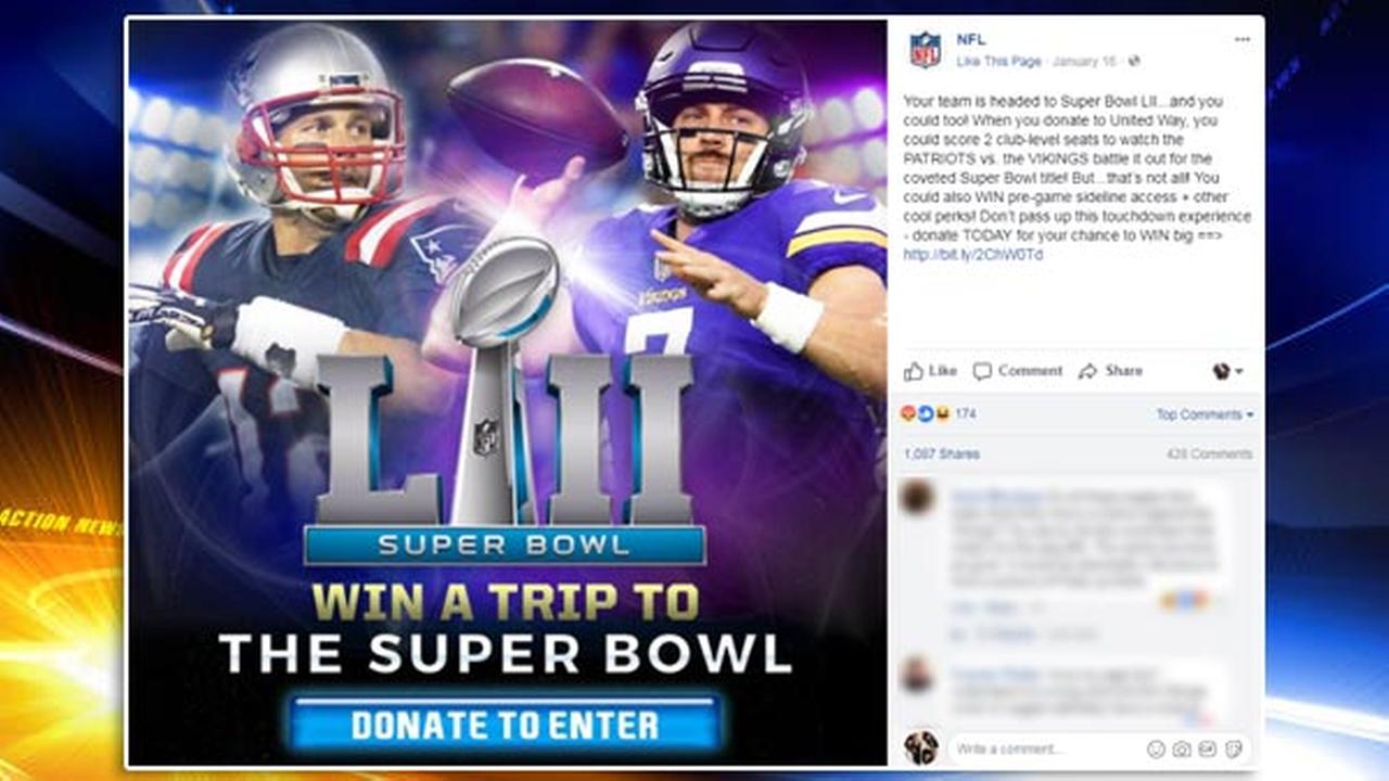 NFL prematurely promotes Vikings/Patriots Super Bowl