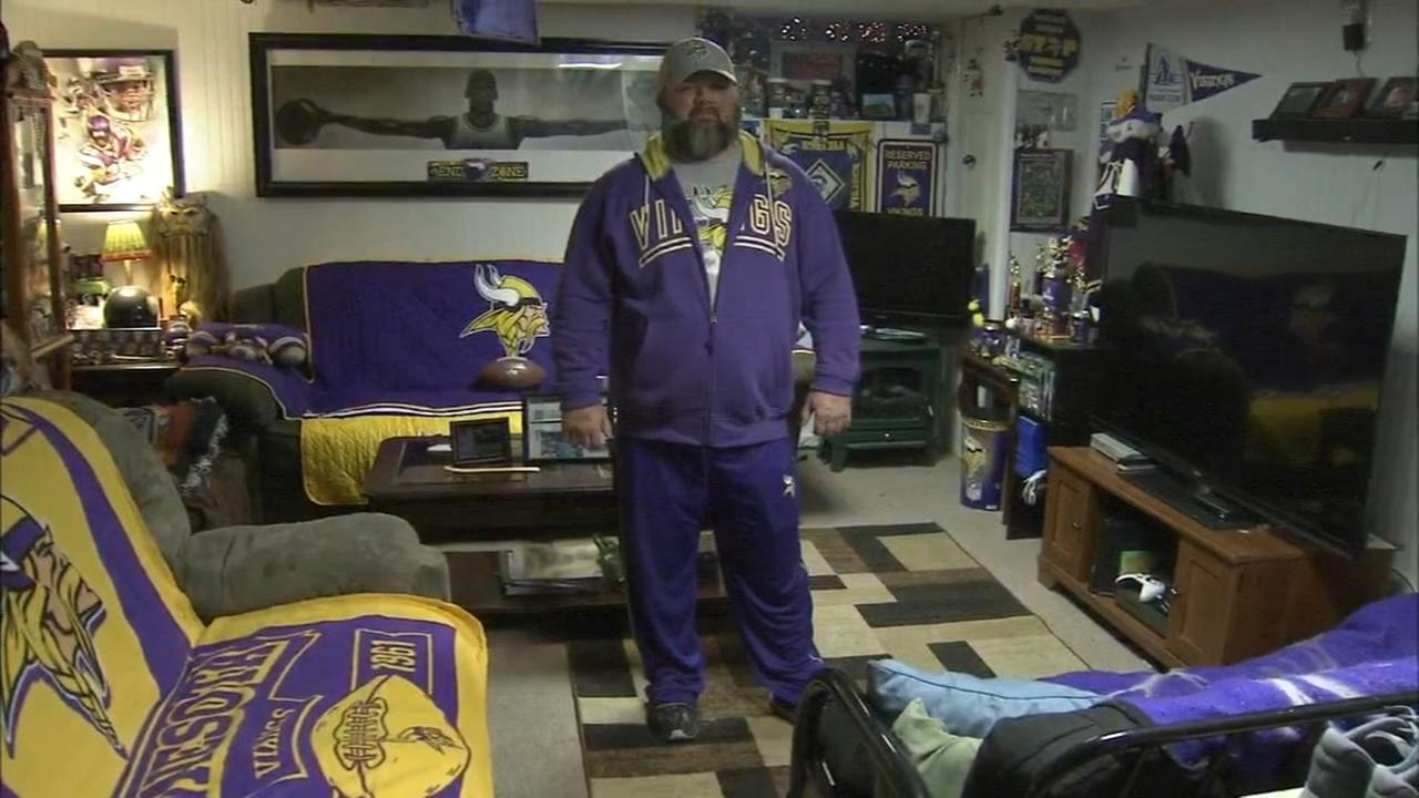 Lone Vikings fans in Philly and New Jersey