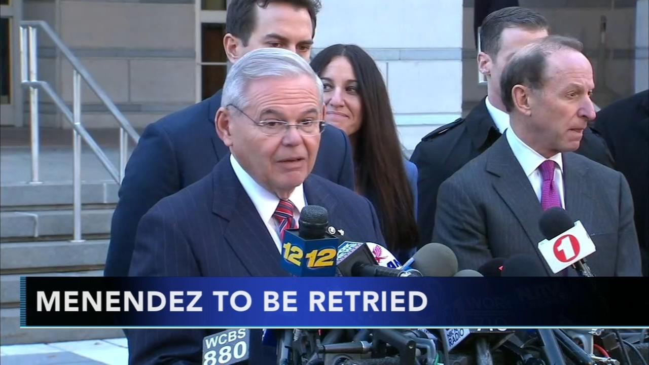 Prosecutors say they will retry New Jersey Sen. Bob Menendez