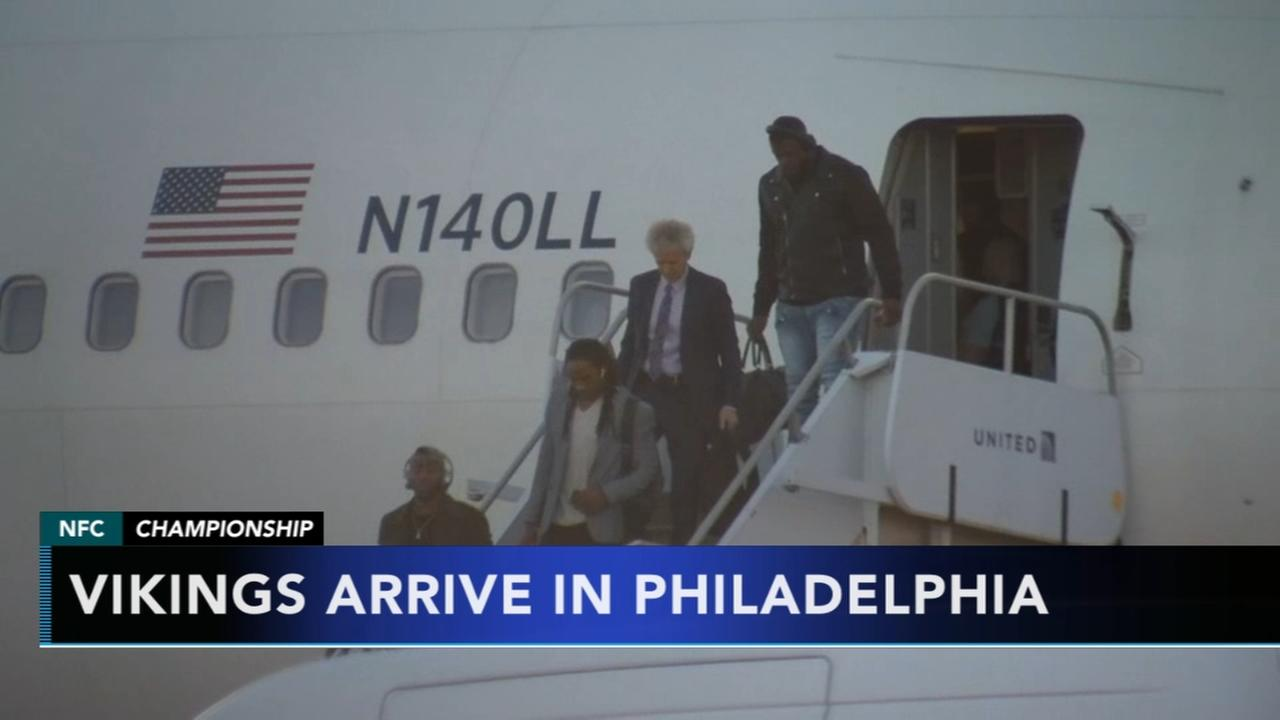 Vikings arrive in Philadelphia ready to play
