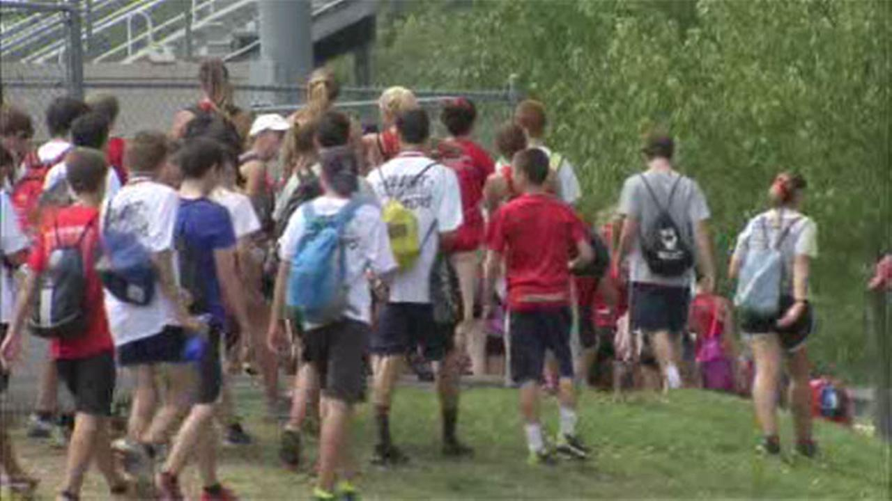 Heat overwhelms students at Bucks Co. cross country event