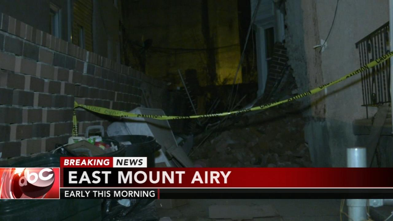 Partial collapse in East Mt. Airy
