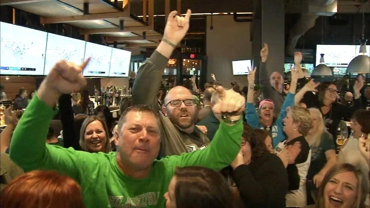 Eagles fans continue the celebration