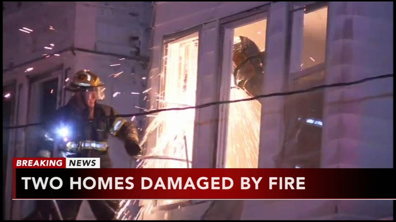 2 homes damaged by fire in West Philadelphia