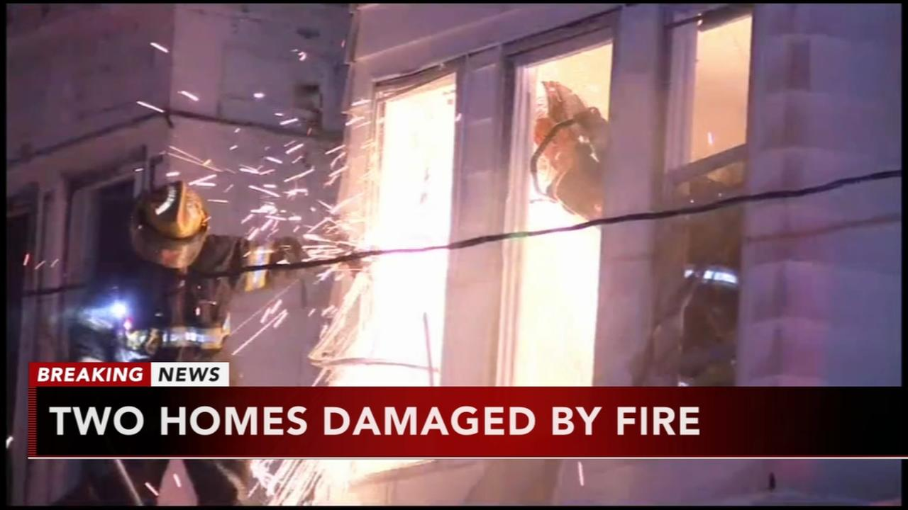 2 homes damaged in West Philadelphia fire