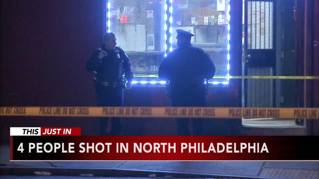 Four people shot in North Philadelphia