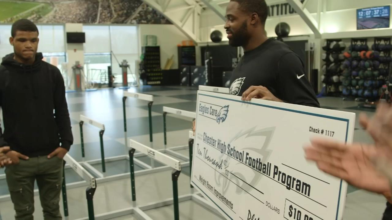 Eagles donate to Chester High football program