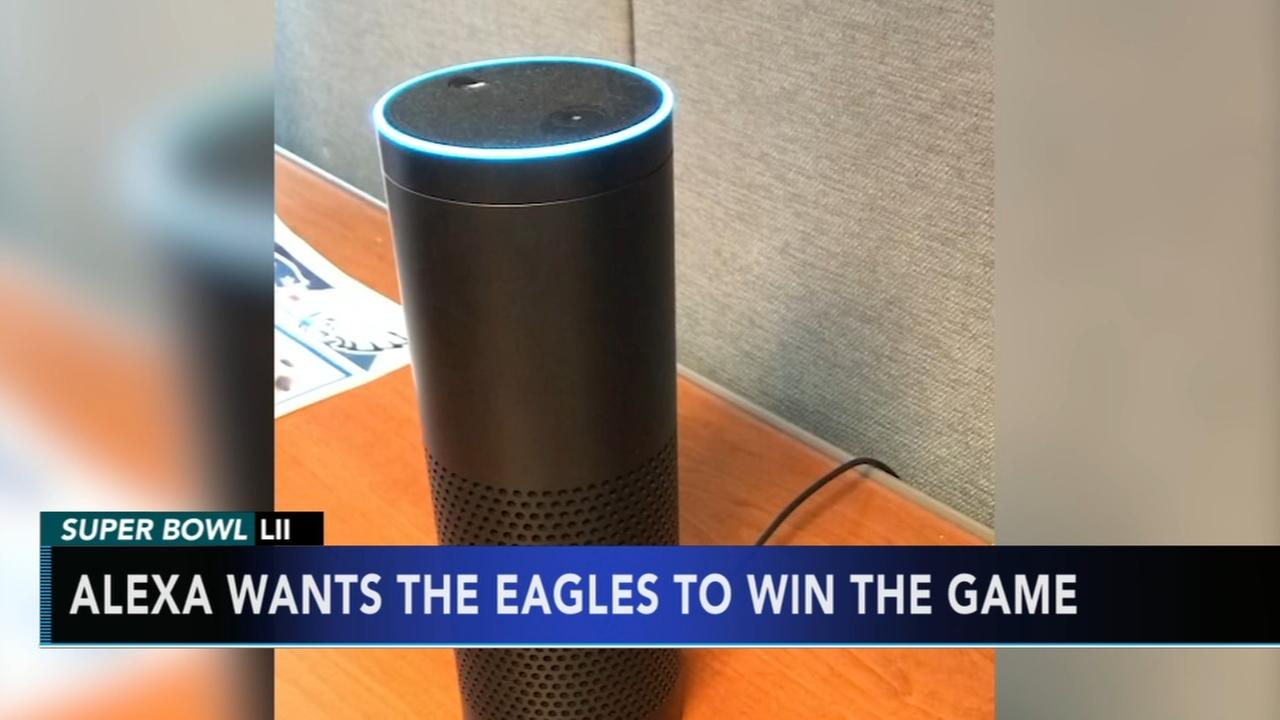 Alexa wants Eagles to win Super Bowl