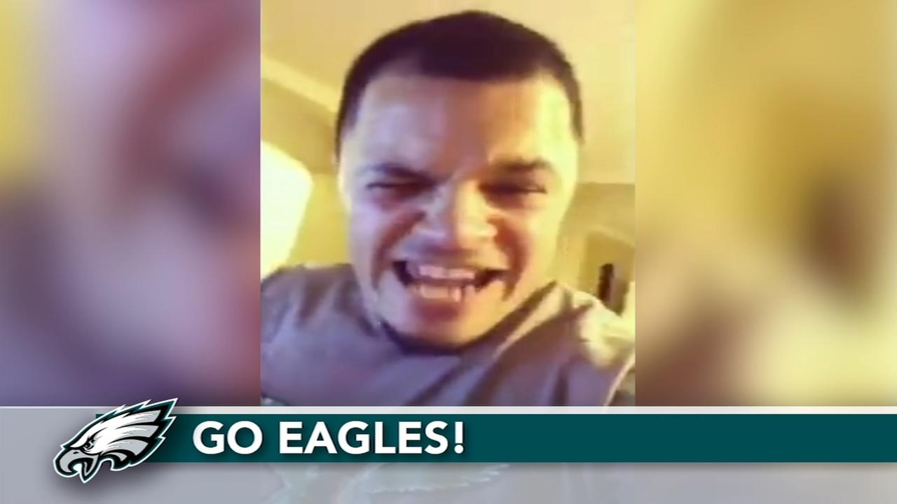 VIDEO: Dad tries to contain Eagles excitement as baby sleeps