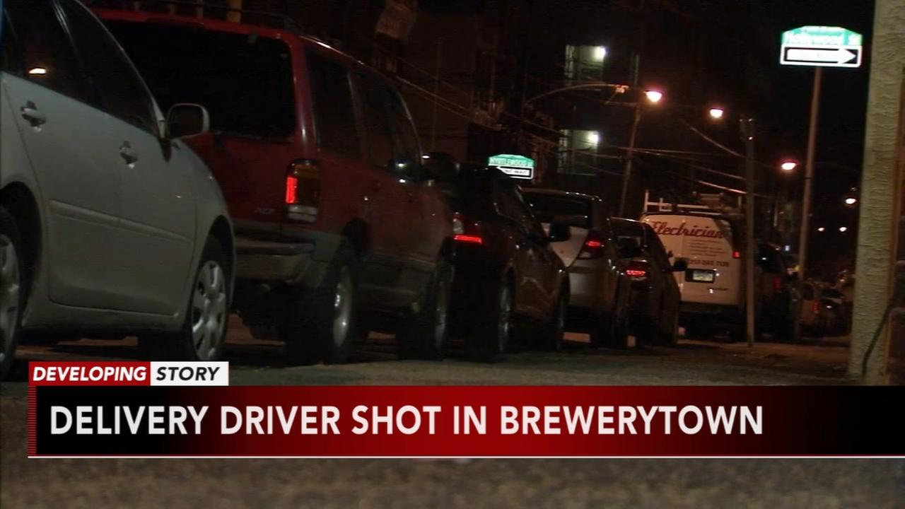 Delivery driver shot in Brewerytown