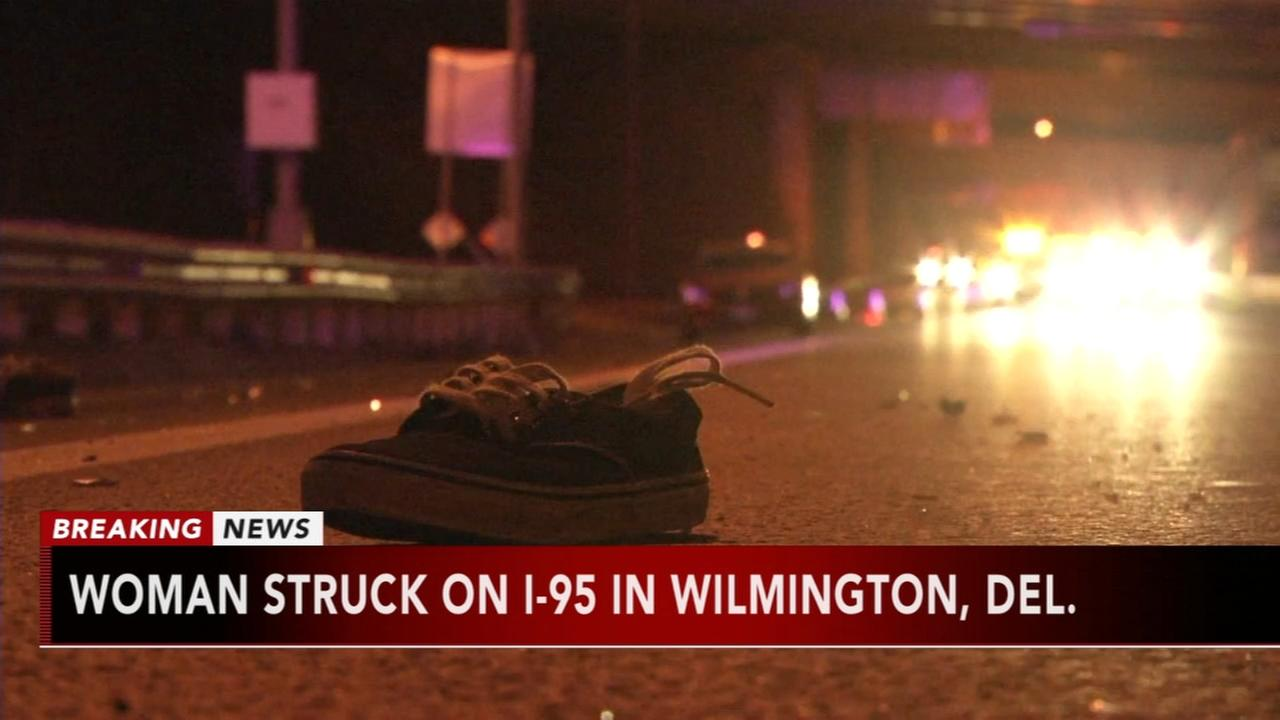 Woman struck on I-95 in Wilmington