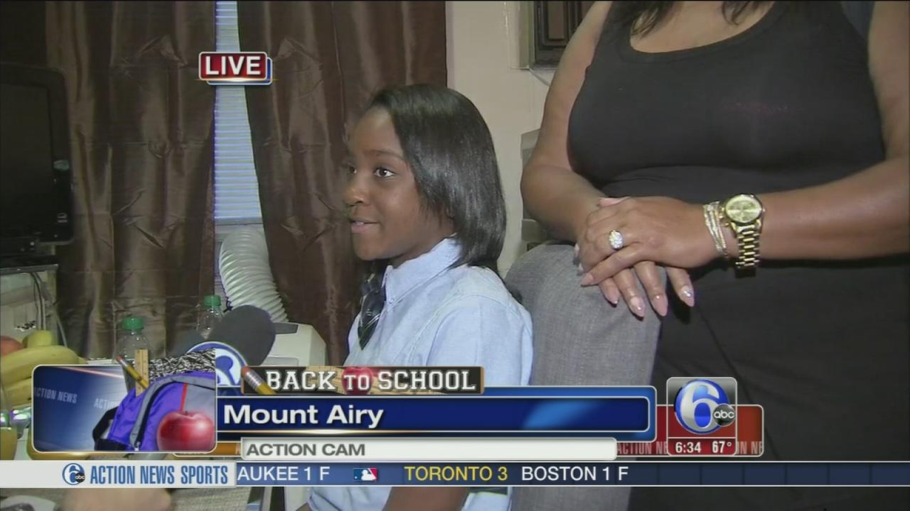 VIDEO: Nydia Patterson gears up her first day of school