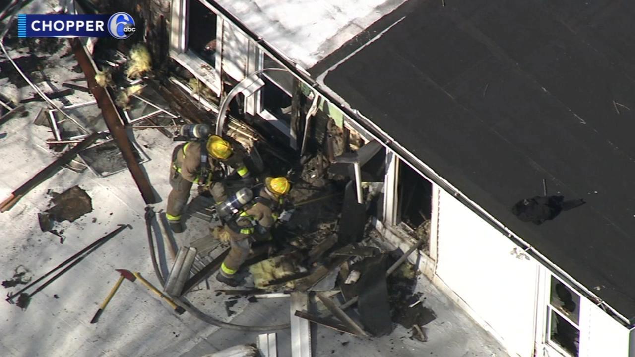 Firefighters battle house blaze in Bridgeton