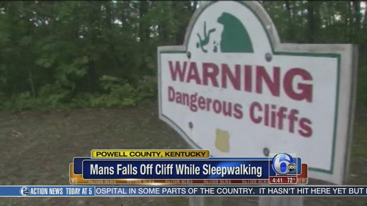 VIDEO: Camper falls off cliff while sleepwalking