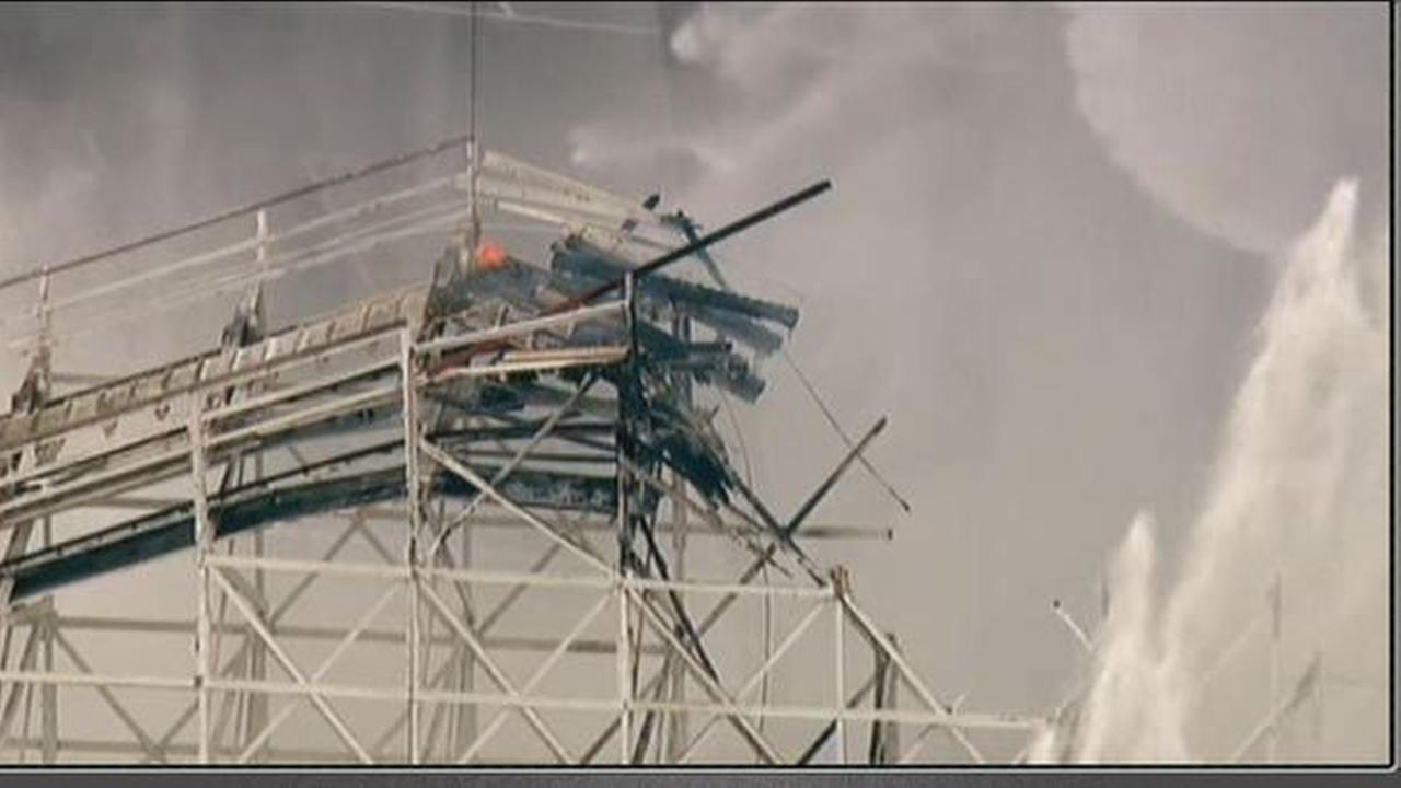 Fire on California roller coaster