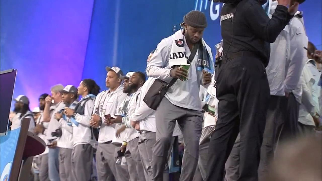 Eagles players enjoying the moment