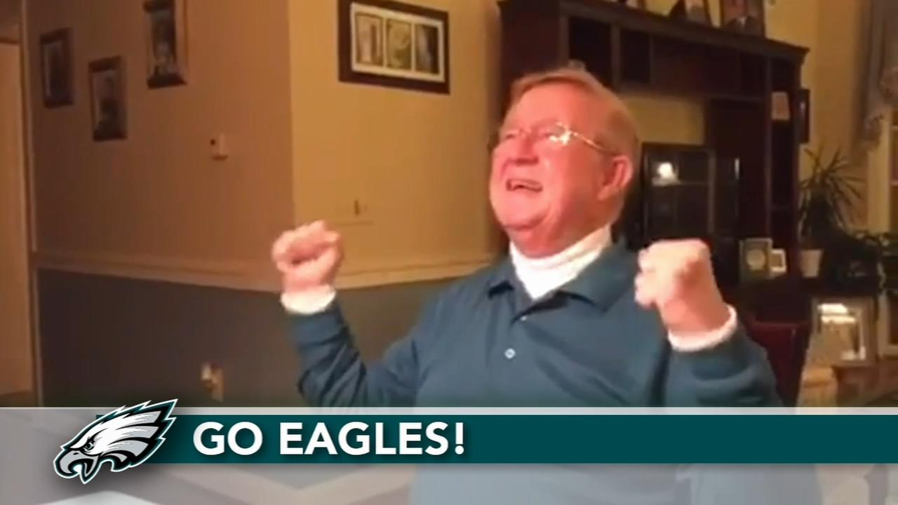 75-year-old surprised with Super Bowl tickets by sons