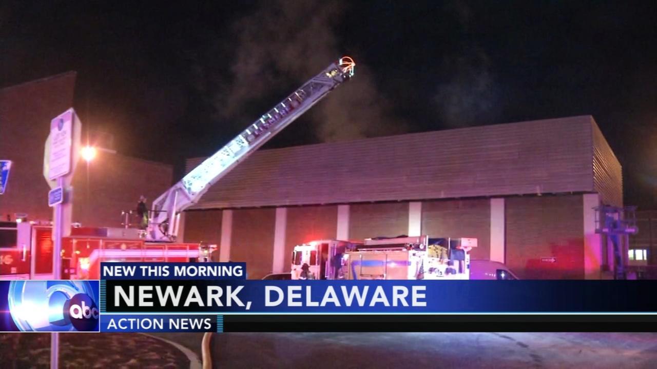 Firefighter injured battling UDel fire