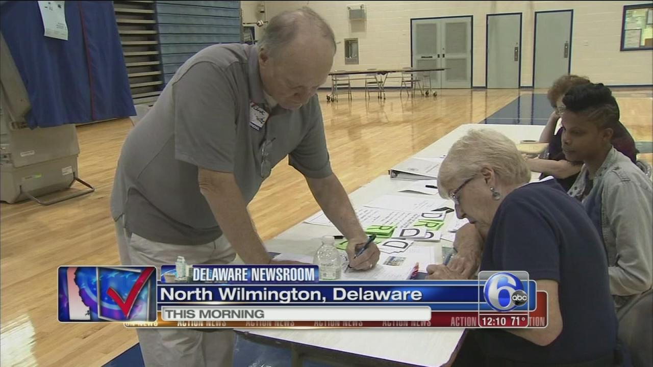 VIDEO: Primary election day in Delaware