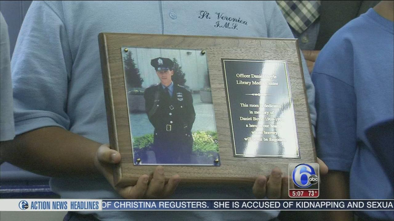 VIDEO: School library named after fallen officer