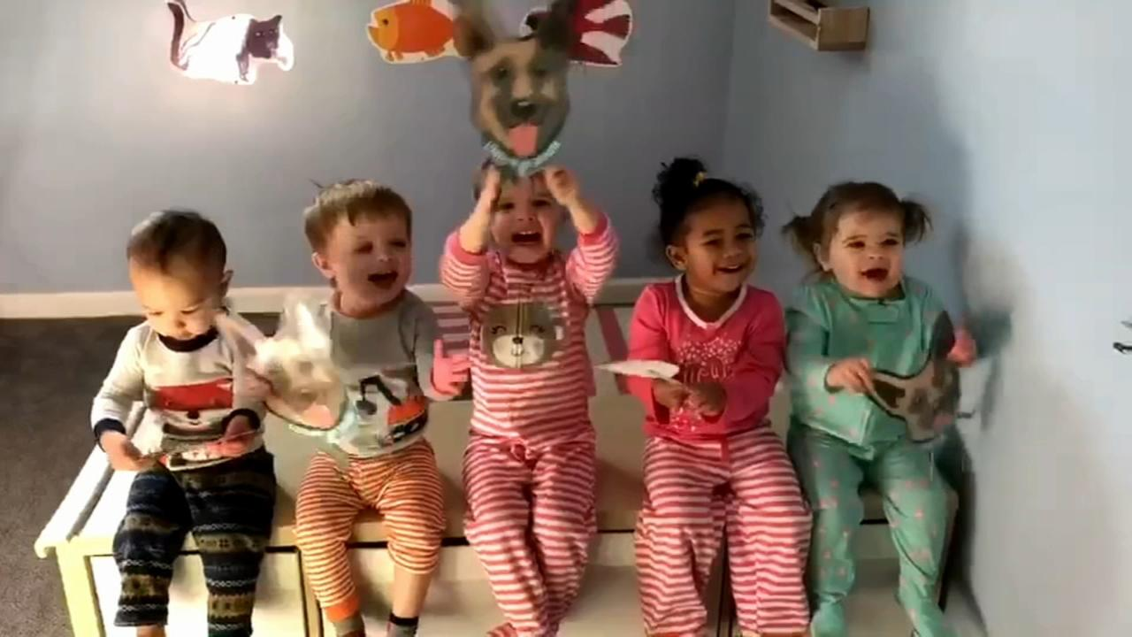 VIDEO: Adorable toddlers cheer on the Eagles