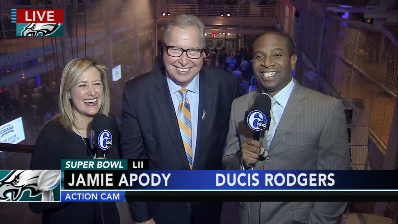 VIDEO: Jamie and Ducis join Jaws at pre-Super Bowl party in Minneapolis