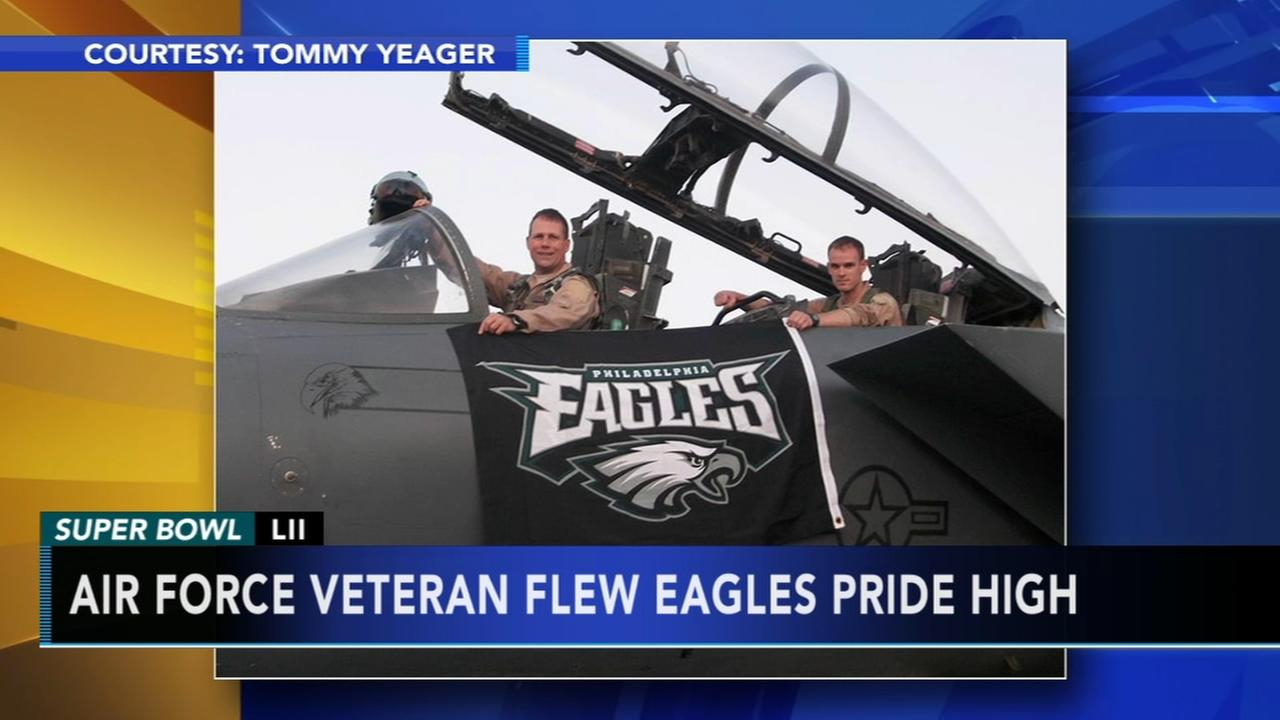 Air Force veteran flew Eagles pride high