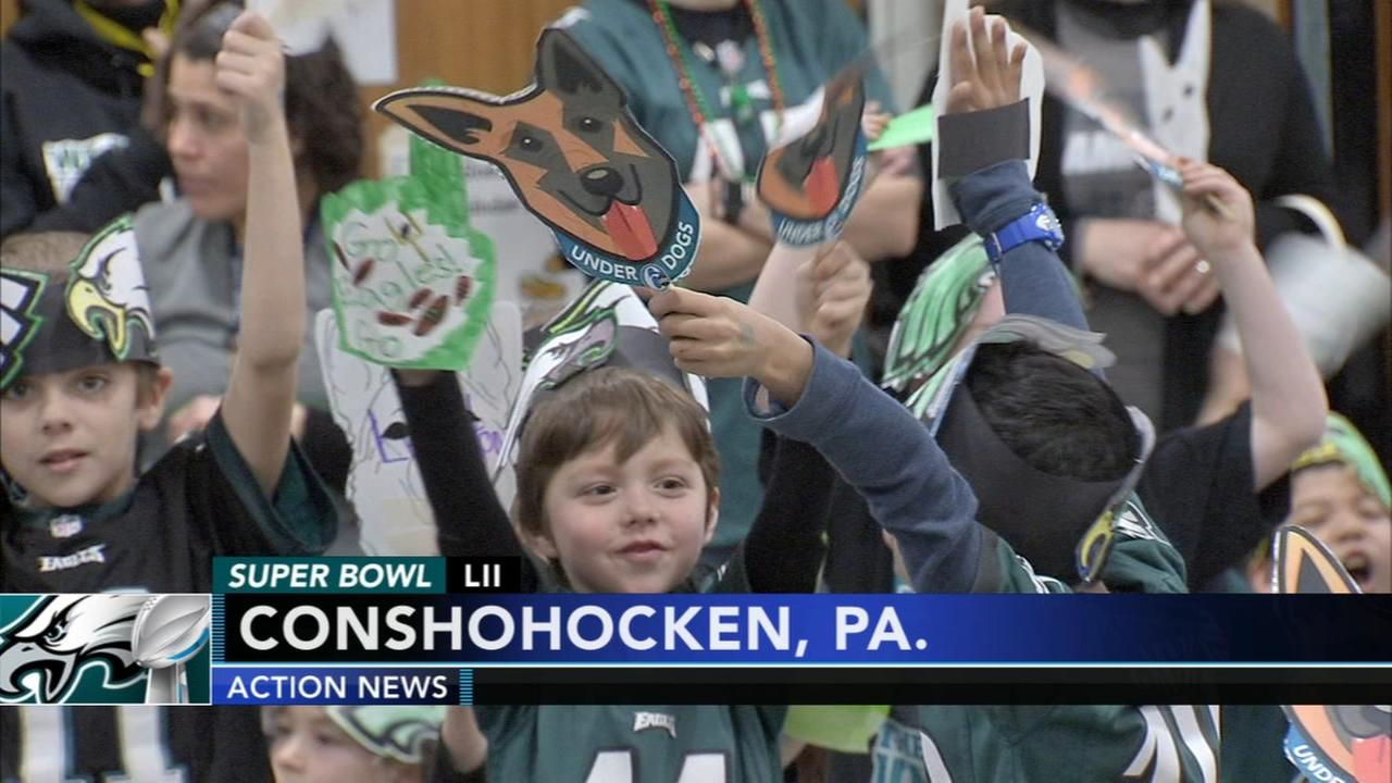 Eagles rally at Ridge Park Elementary School