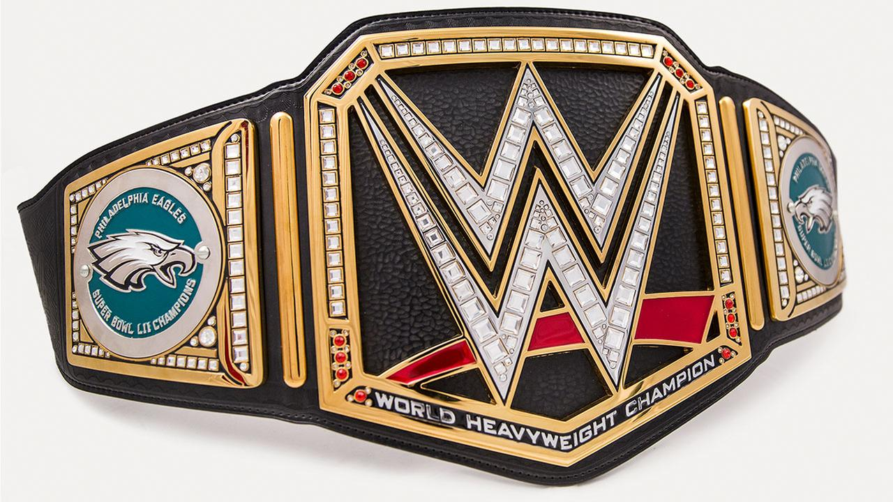The Philadelphia Eagles are receiving more than just the Lombardi Trophy for winning the Super Bowl, theyre also receiving their own custom WWE Championship Title belt.