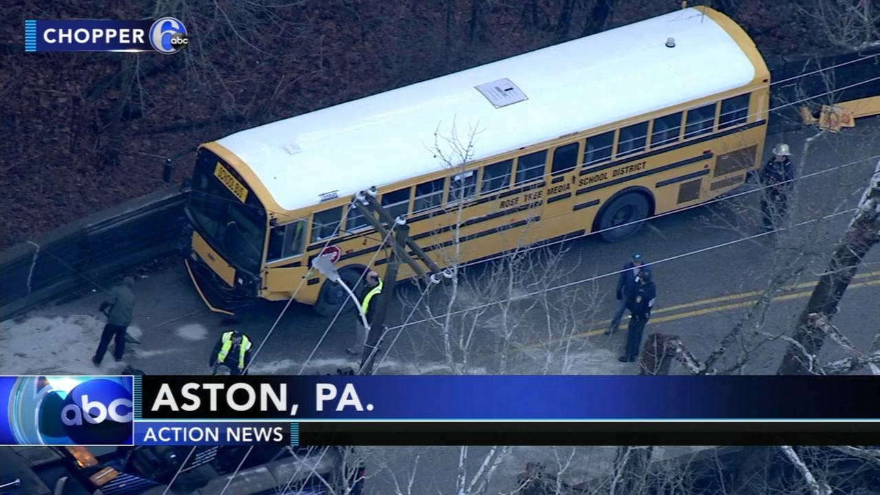 School bus crash in Aston