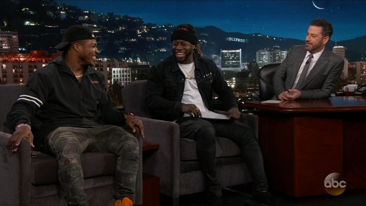 Eagles players appear on Jimmy Kimmel Live
