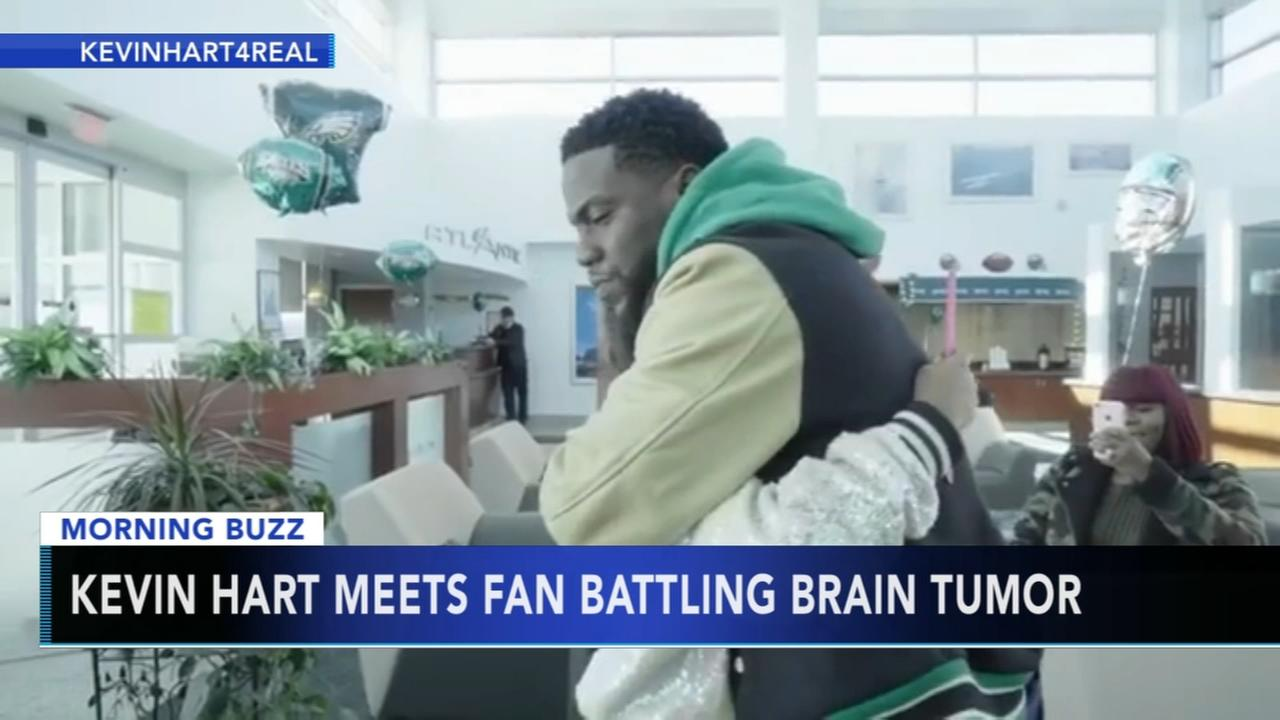 Kevin Hart meets fan battling brain tumor
