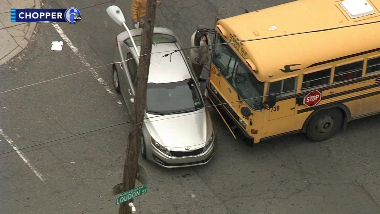 School bus crash in Feltonville