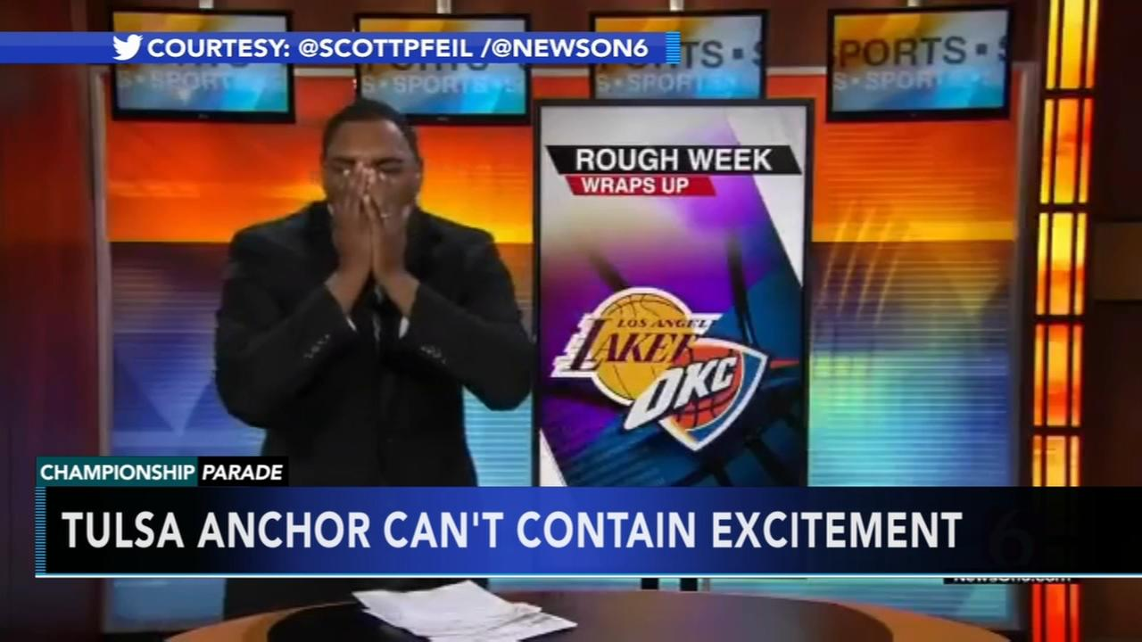 VIDEO: Sports anchor cant contain excitement when Eagles win