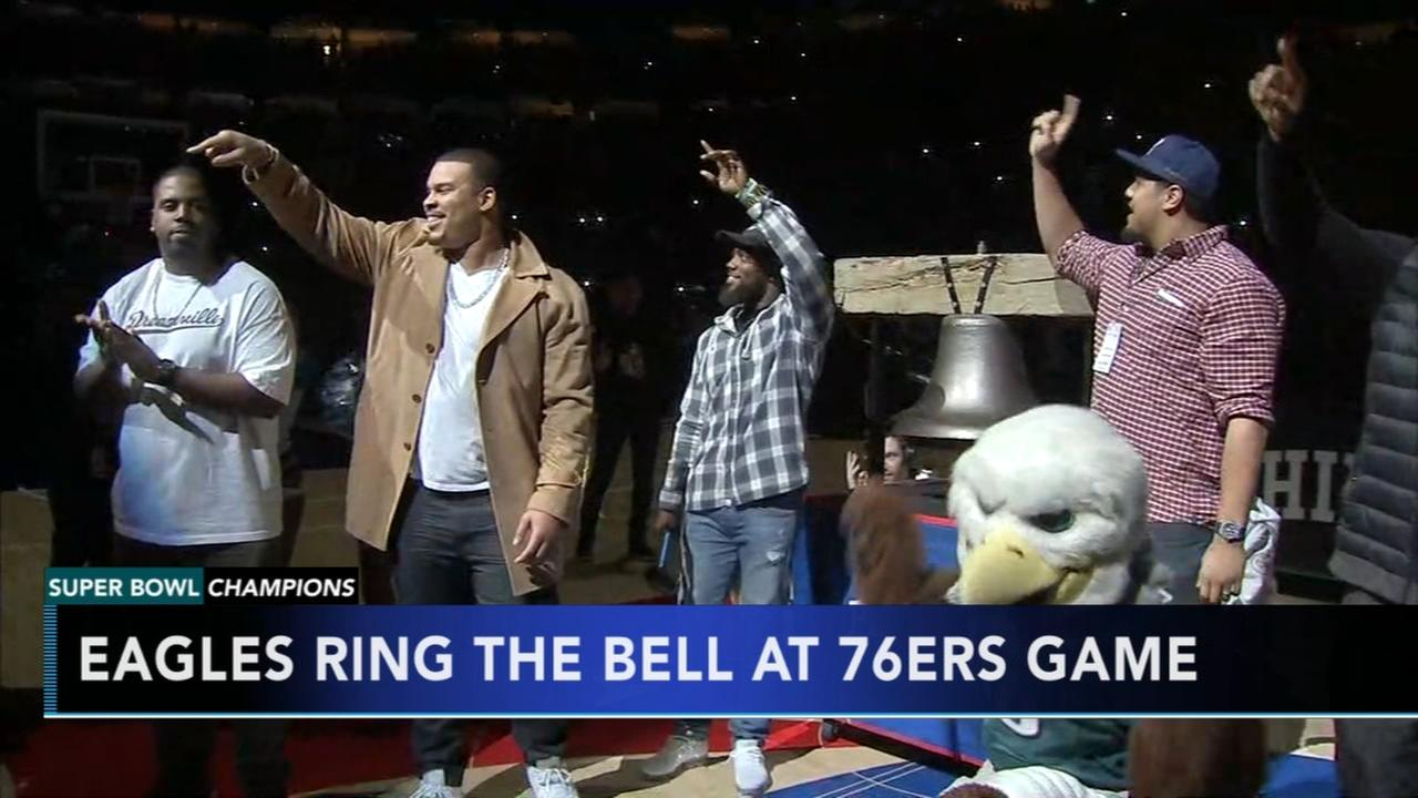 Eagles honored at 76ers game