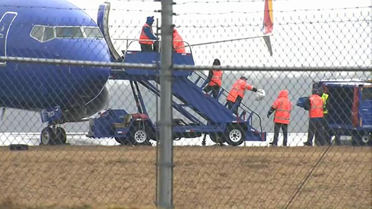 Southwest Airlines plane skids off taxiway at BWI Airport in Maryland