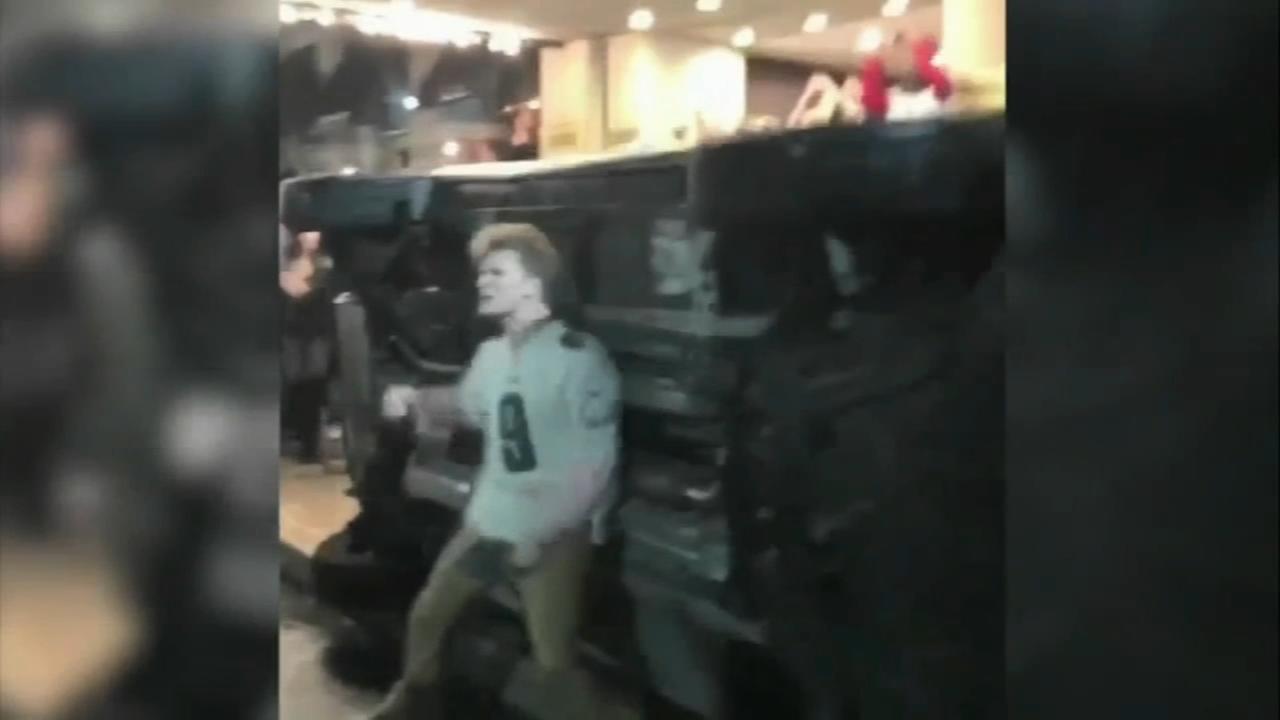 8 arrested, dozens sought following Super Bowl celebrations