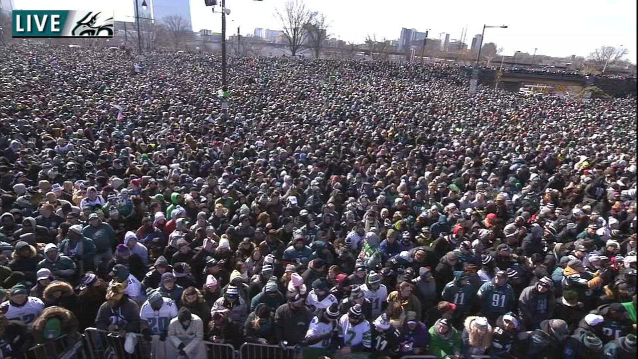 Image result for eagles parade crowds