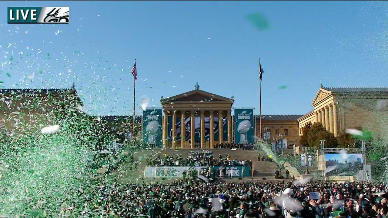 VIDEO: Finale of Eagles parade and celebration
