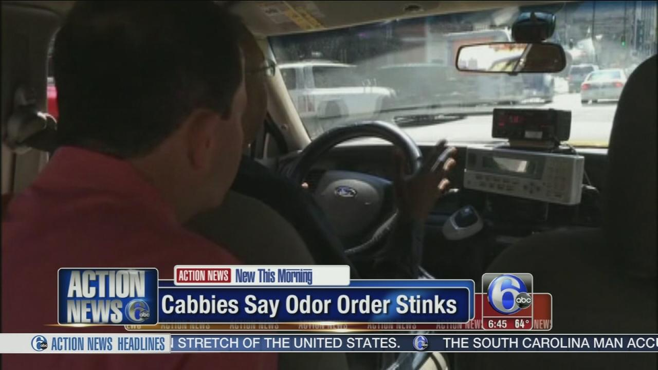 VIDEO: Cabbies say smell test stinks