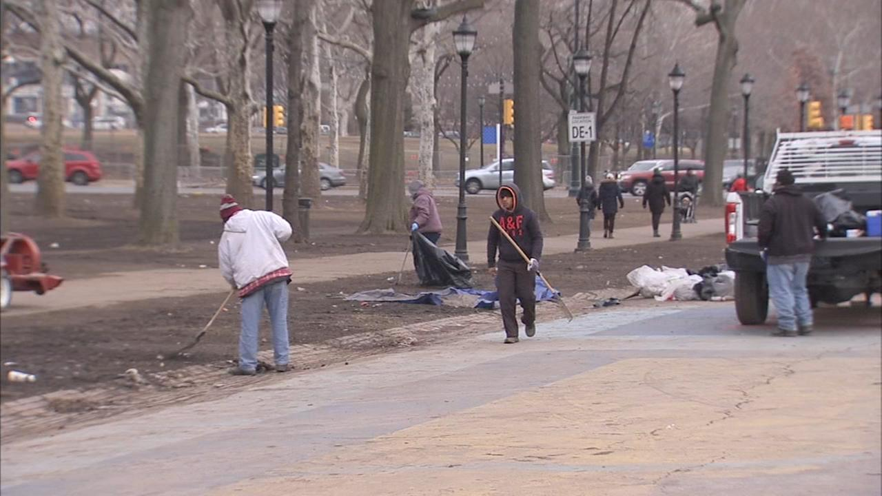 Parkway cleanup wrapping up after Eagles parade