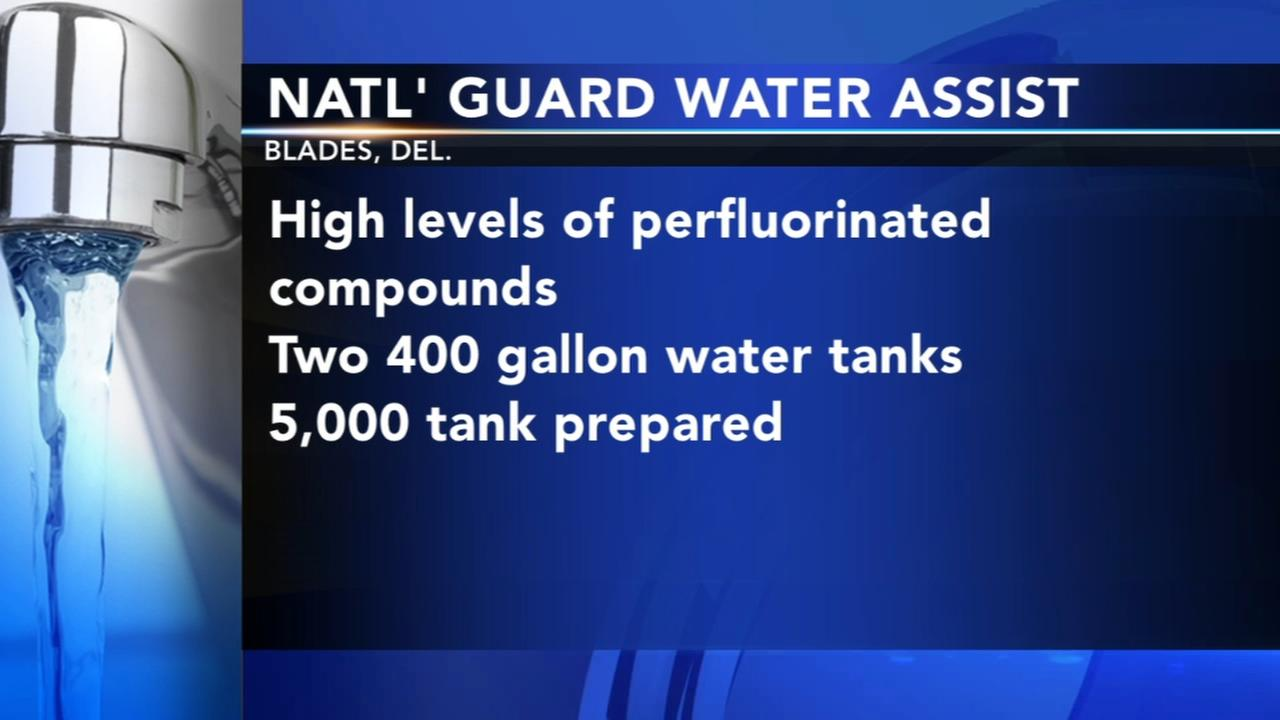National Guard helping after chemicals found Delaware in towns well