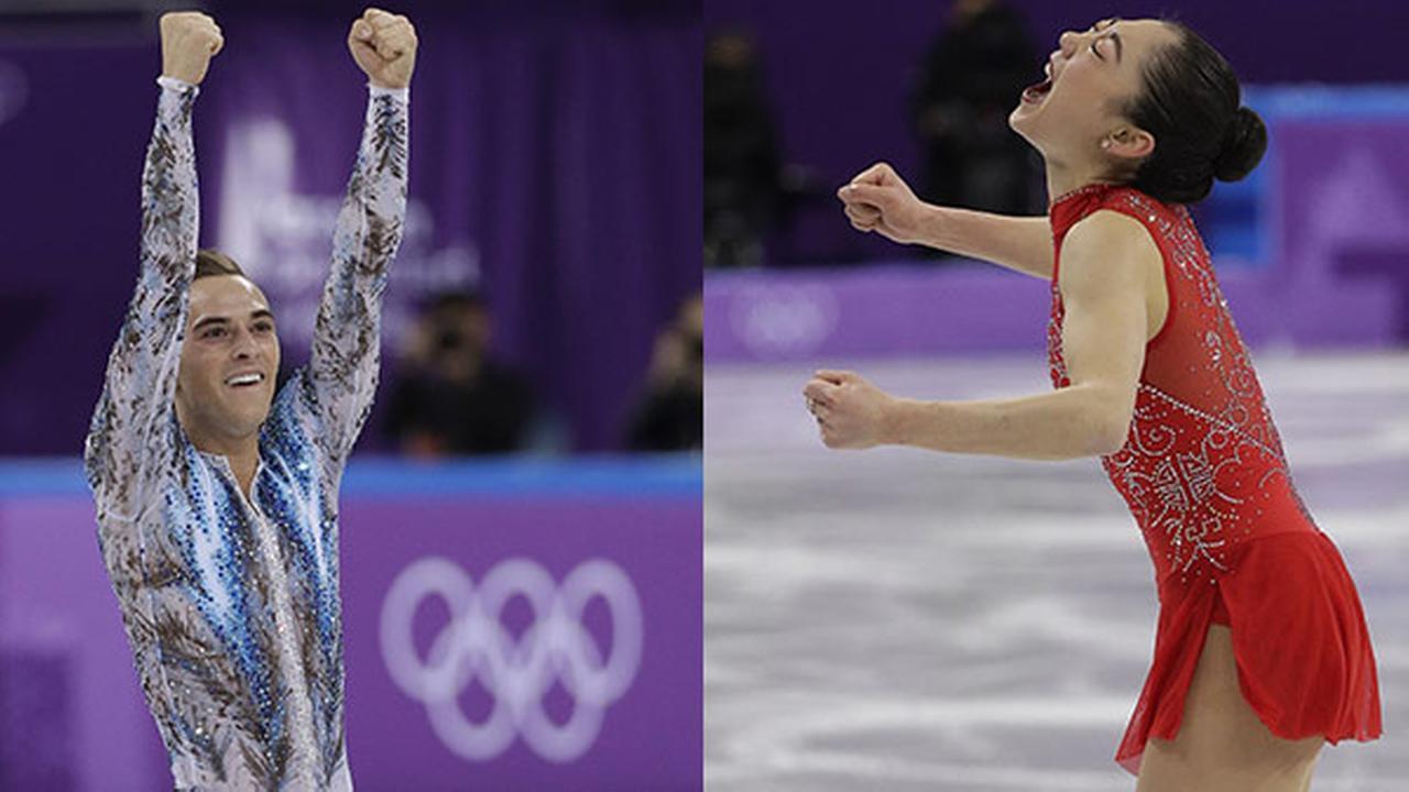 Adam Rippon and Mirai Nagasu