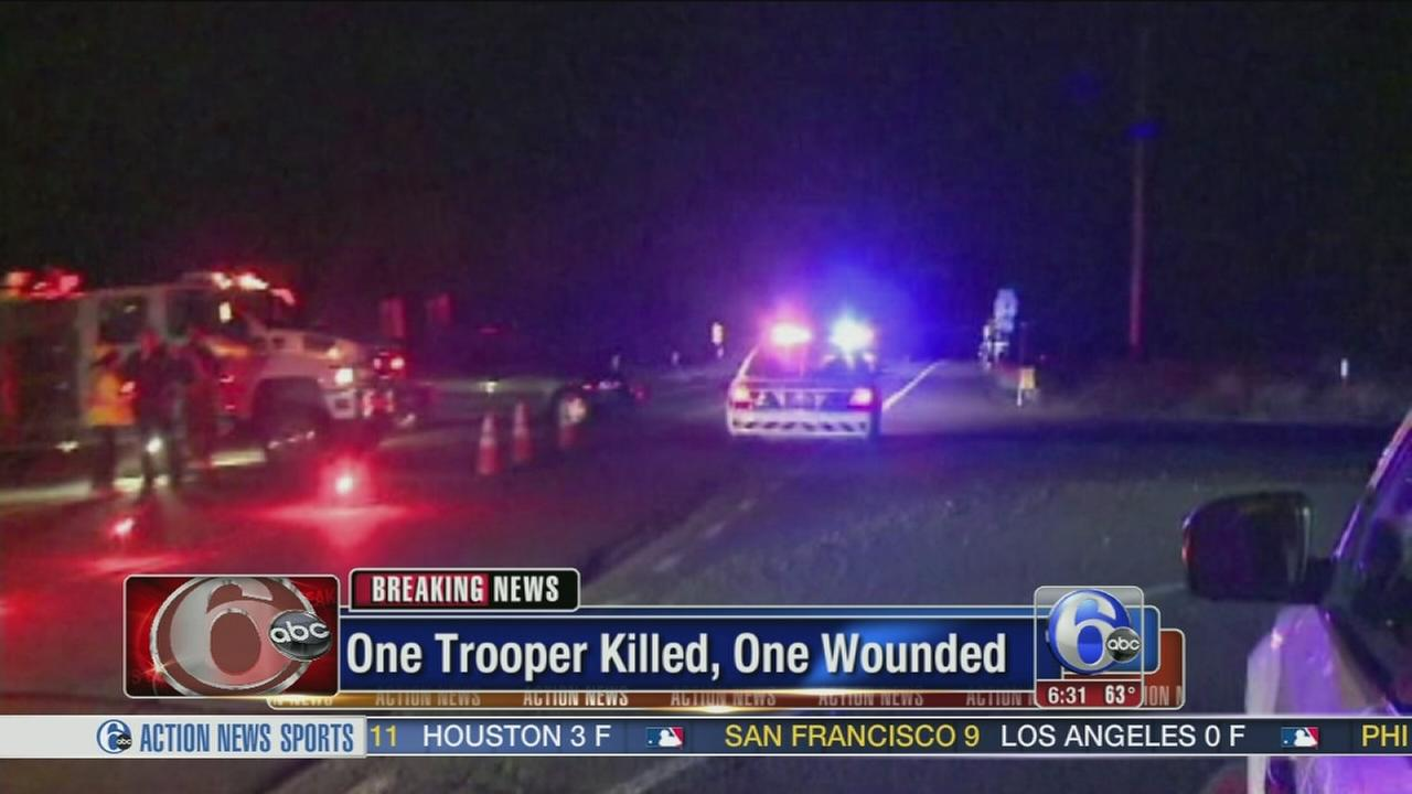 VIDEO: State Police: 1 trooper dead, 1 injured in barracks shooting