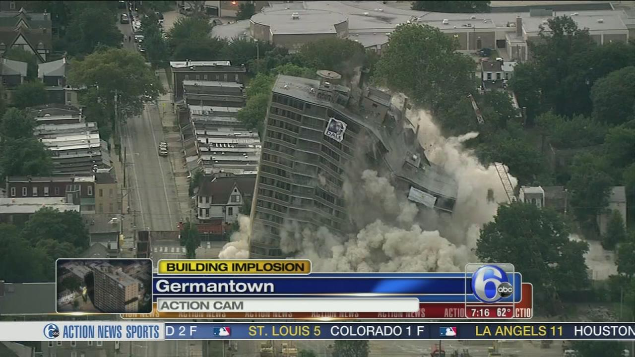 VIDEO: 16-story Germantown high-rise implosion
