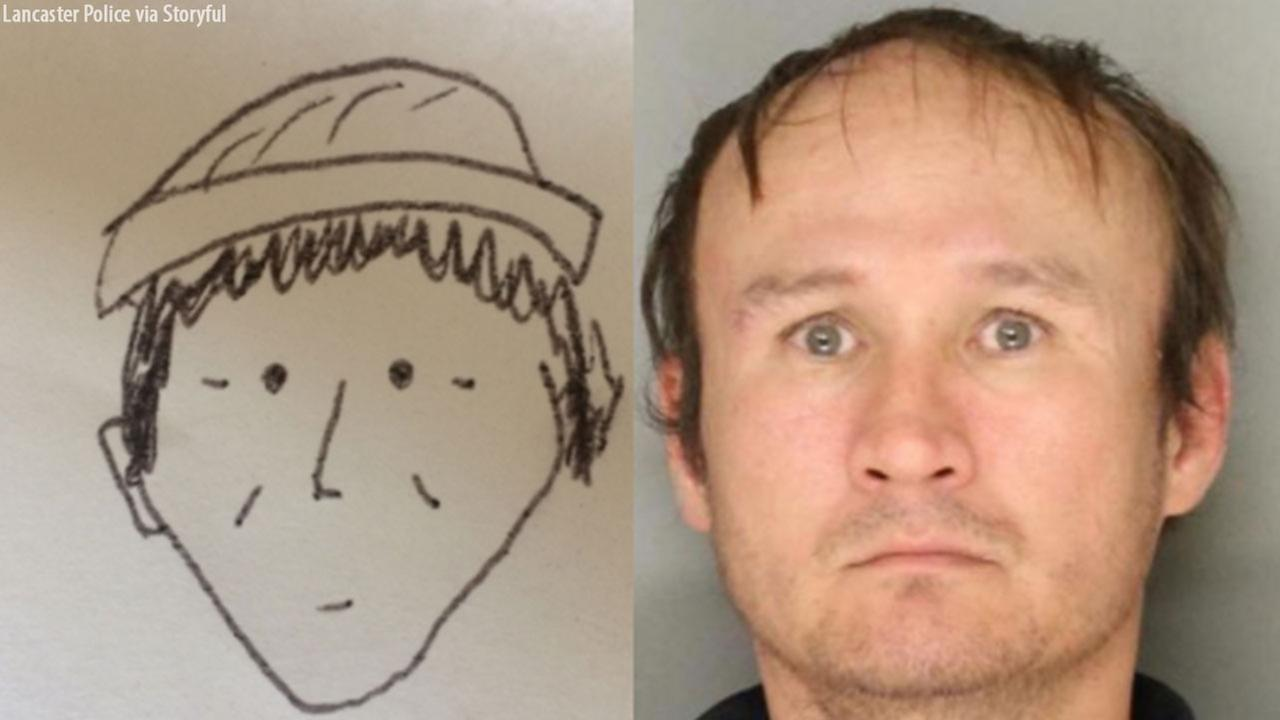 Police in Lancaster, Pennsylvania used an amateurish and cartoonish sketch to help them identify a robbery suspect on January 30, 2018.