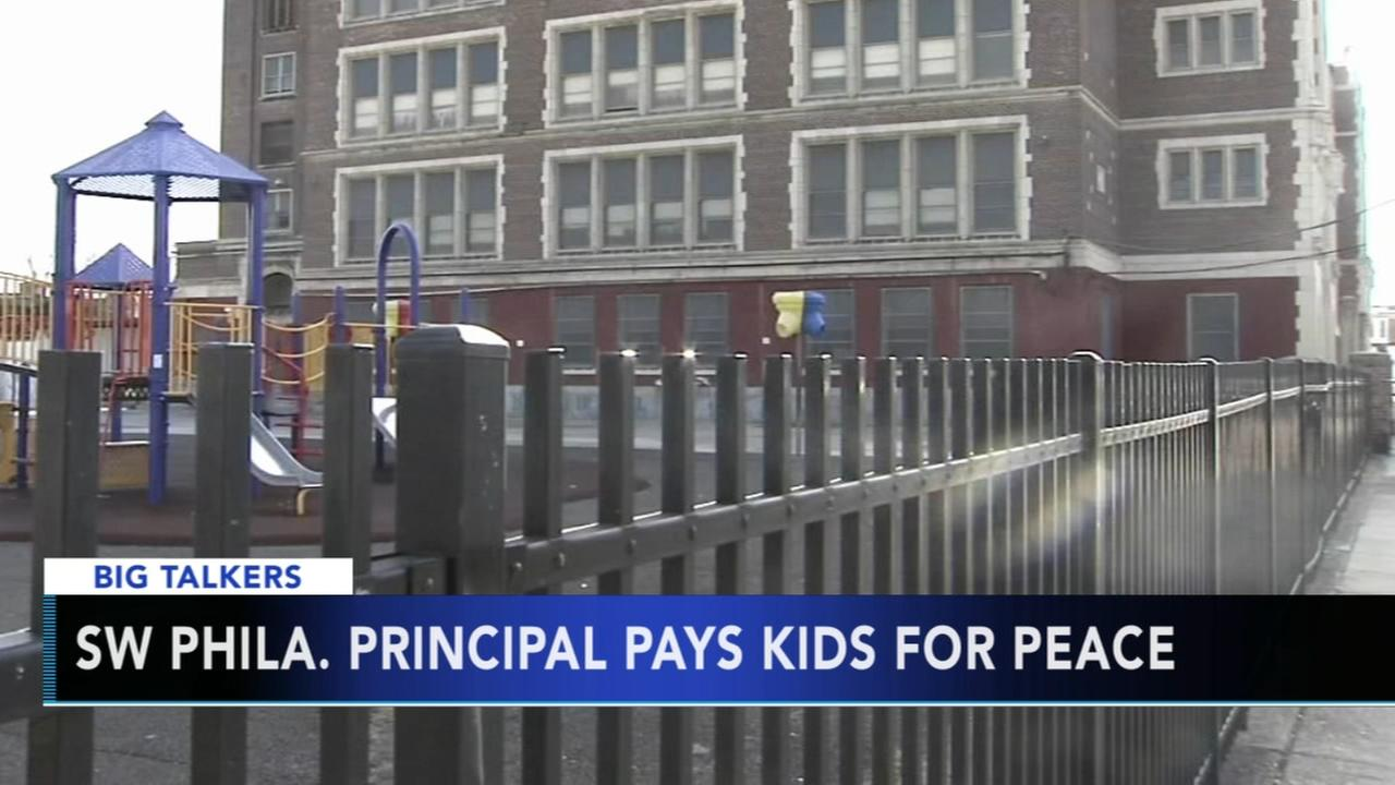 VIDEO: Philly principal pays kids for peace