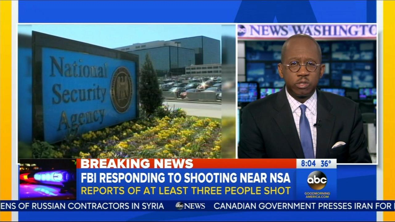 FBI responding to shooting near NSA