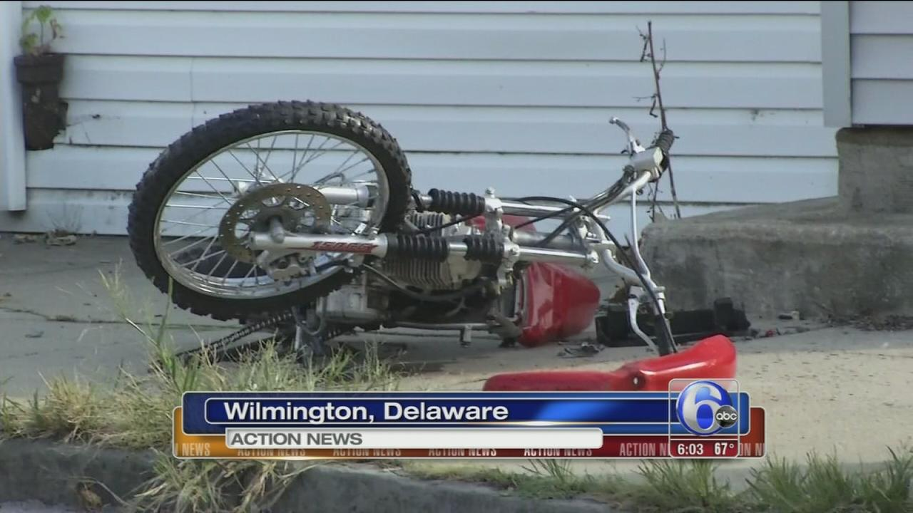 VIDEO: Teens riding dirt bike struck in Wilmington hit-and-run